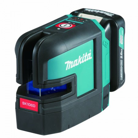 Makita Rechargeable Green 4-Point Cross Line Laser SK106D 1