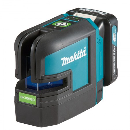 Makita Rechargeable Green 4-Point Cross Line Laser SK106GD