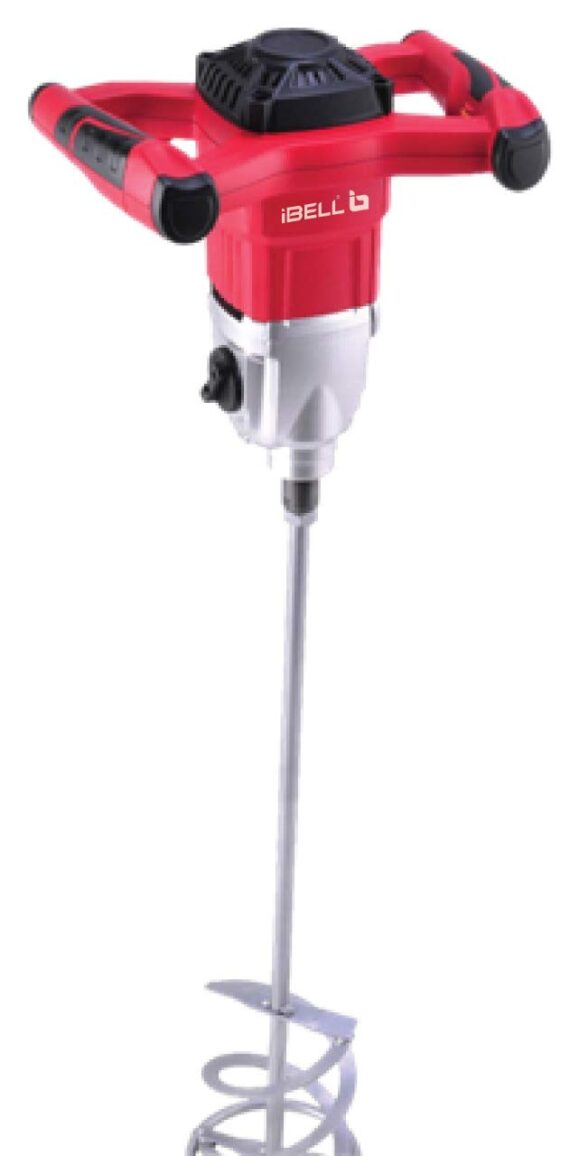 IBELL 1600W Electric Multi Purpose Stirring Machine for Mixing Putty/Cement/Paint with Variable Speed Switch (RED)