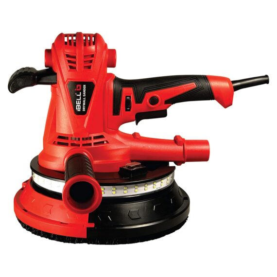 IBELL Dry Wall Sander DS25-80, 215MM, 1300W, 1400-2600rpm with Vacuum and LED Light
